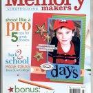 MEMORY MAKERS SCRAPBOOKING CRAFT MAGAZINE AUGUST SEPTEMBER 2007 MINT