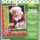BETTER HOMES & GARDENS SCRAPBOOKS ETC BACK ISSUE MAGAZINE NOVEMBER DECEMBER 2007 NEAR MINT