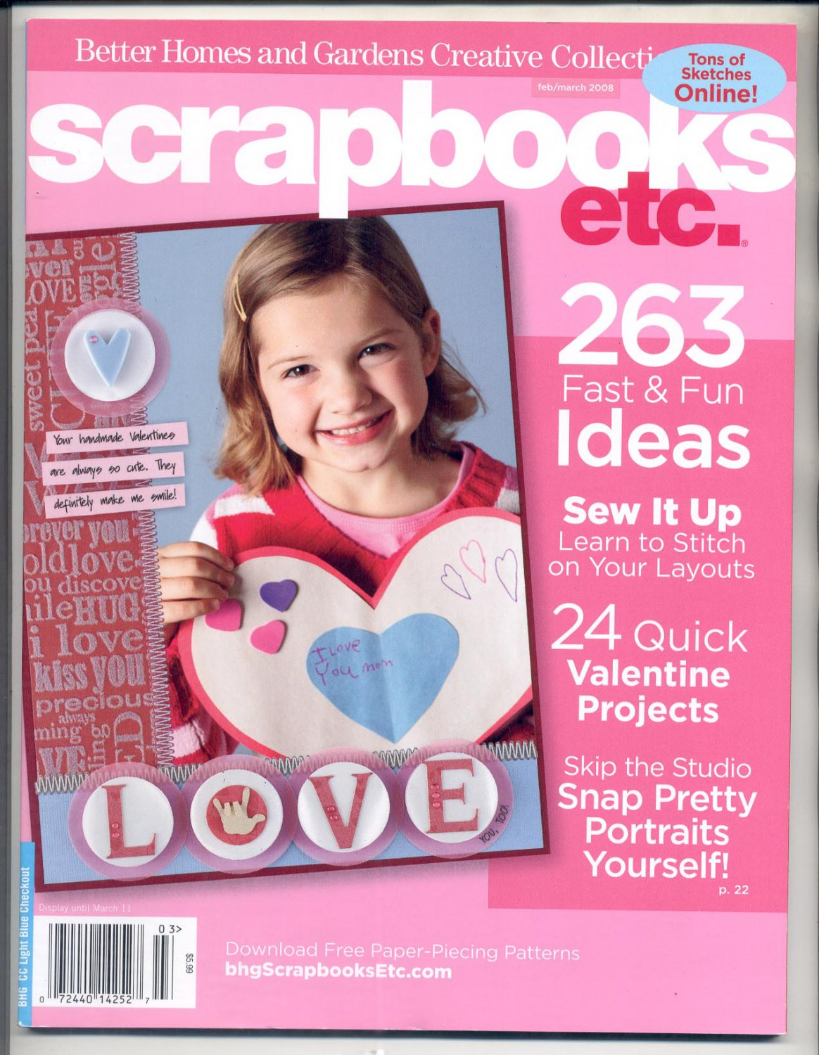 BETTER HOMES & GARDENS SCRAPBOOKS ETC BACK ISSUE MAGAZINE FEBRUARY MARCH 2008 MINT