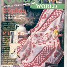 CROCHET WORLD - OVER 25 SPRINGTIME CROCHET DESIGNS BACK ISSUE MAGAZINE APRIL 1988 NEAR MINT