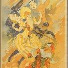 ART NOUVEAU POST CARD JULES CHERET PARIS 1890 FLOWER FESTIVAL POSTER 1994 NEAR MINT