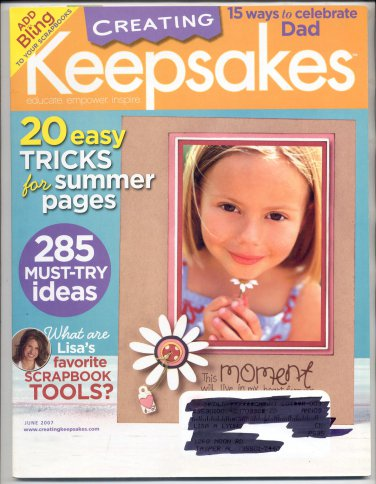 CREATING KEEPSAKES SCRAPBOOKING CRAFT MAGAZINE JUNE 2007 NMINT