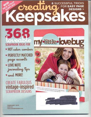 CREATING KEEPSAKES SCRAPBOOKING CRAFT MAGAZINE FEBRUARY 2010 NEAR MINT