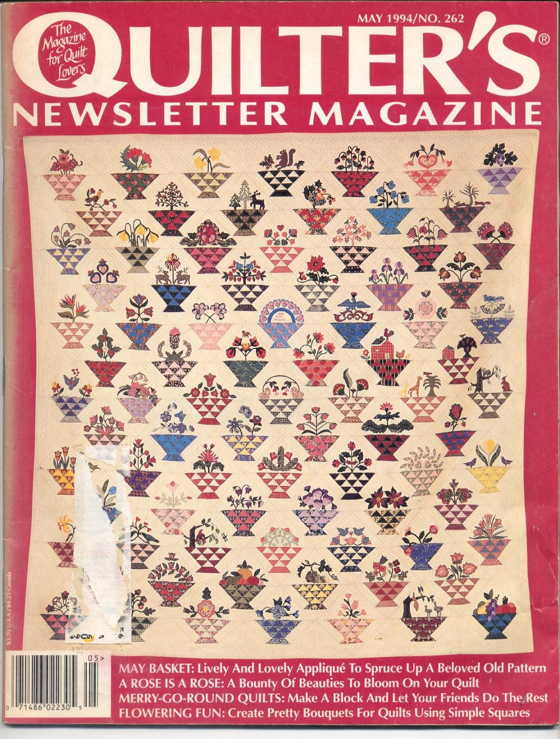 The Quilter Magazine May 2008 with Patterns