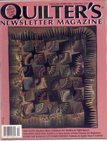 QUILTER'S NEWSLETTER MAGAZINE BACK ISSUE CRAFT MAGAZINE JANUARY FEBRUARY 1996 NEAR MINT