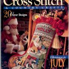 "CROSS STITCH & COUNTRY CRAFTS BACK ISSUE MAGAZINE JULY AUGUST 1994 NEAR MINT ""A"""