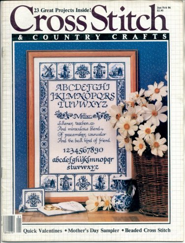 CROSS STITCH & COUNTRY CRAFTS BACK ISSUE MAGAZINE JANUARY FEBRUARY 1986 NEAR MINT