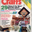 CRAFTS MAGAZINE BACK ISSUE ~ MAY 1987 W/ FULL SIZE PULL OUT PATTERNS NEAR MINT