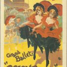 ART NOUVEAU POST CARD JEAN DE PALEOLOGU PARIS 1893 BALLET OLYMPIA POSTER 1994 NEAR MINT