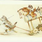 OFF TO JERICHO - CAT COLOR POSTCARD # 17 UNUSED 1994 NEAR MINT