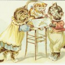 TODAY'S MENU - CAT COLOR POSTCARD # 16 UNUSED 1994 MINT