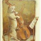 BEAUTIFUL MEWSIC - CAT COLOR POSTCARD # 14 UNUSED 1994 NEAR MINT