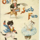 OH, SUCH FUN - CAT COLOR POSTCARD # 11 UNUSED 1994 NEAR MINT