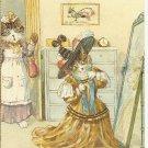 VAIN MISS KITTY - CAT COLOR POSTCARD # 9 UNUSED 1994 NEAR MINT