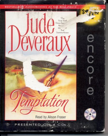 TEMPTATION BY JUDE DEVERAUX ~ AUDIOBOOK 4 CDs ABRIDGED 2000 NEAR MINT