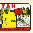 VINTAGE STYLE TRAVEL VINYL DECAL STICKER AUTO TRUCK ~ UTAH THE GREAT SALT LAKE # 143