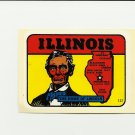 VINTAGE STYLE TRAVEL VINYL DECAL STICKER AUTO TRUCK ~ ILLINOIS HOME OF LINCOLN NOS MINT