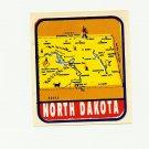VINTAGE STYLE TRAVEL VINYL DECAL STICKER AUTO TRUCK ~ NORTH DAKOTA #RD252 NOS MINT