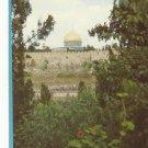 VINTAGE PARTIAL VIEW JERUSALEM COLOR POSTCARD UNUSED 1992 NEAR MINT # 14