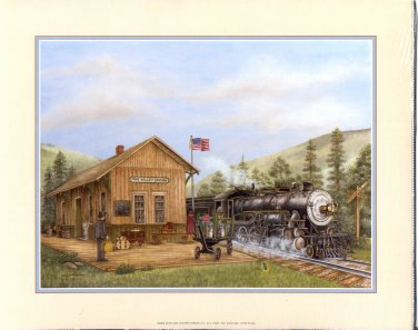 2002 PRINT #13B: PINE VALLEY STATION  8 X 10 NEAR MINT NEW OLD STOCK