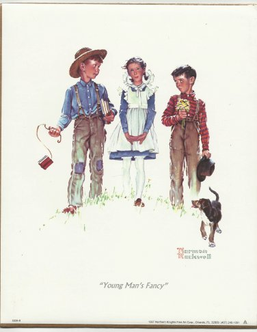 1997 PRINT # 02: NORMAN ROCKWELL - YOUNG MAN'S FANCY 8 x 10 MINT SEALED