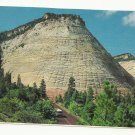 CHECKERBOARD MESA ZION NATIONAL PARK - UTAH - VINTAGE COLOR POSTCARD 1981 UNUSED MINT # 620