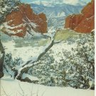 SNOW GARDEN OF THE GODS ~ PIKES PEAK - COLORADO - VINTAGE COLOR POSTCARD 1981 UNUSED MINT # 629