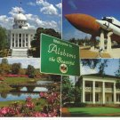 WELCOME TO ALABAMA THE BEAUTIFUL - VINTAGE COLOR POSTCARD UNUSED MINT # 631