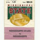 1997 MISSISSIPPI STATE VS OLE MISS FOOTBALL TICKET STUB 11/29/1997 GAME 7 # D23