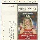 1998 ARKANSAS RAZORBACK VS OLE MISS HOMECOMING QUEEN FOOTBALL TICKET COKE # D24