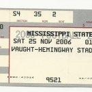 2006 MISSISSIPPI STATE vs OLE MISS EGG BOWL FOOTBALL TICKET STUB 11-22-2001 #D44
