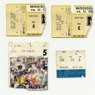 "LOT ""A"" 4 ASSORTED MSU MISSISSIPPI STATE & OLE MISS LSU FOOTBALL TICKET STUBs #D55"