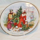BRINGING CHRISTMAS HOME AVON CHRISTMAS PLATE SERIES 22K GOLD TRIM 1990 NO BOX NEAR MINT