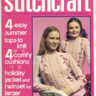 STITCHCRAFT MAGAZINE MAY 1975 BACK ISSUE KNIT CROCHET EMBROIDERY RUGS NEAR MINT