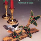 ANNIE'S ATTIC SCULPTURED BIRDS NUTHATCH & HOLLY 1992 PLASTIC CANVAS CRAFTS NEAR MINT