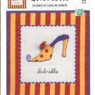 SOLE MATES ~ GABRIELLE ~ GREEN APPLE CO CROSS STITCH CRAFT LEAFLET 2004 DISC NOS MINT