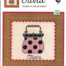 IN THE BAG ~ OLIVIA ~ GREEN APPLE CO CROSS STITCH CRAFT LEAFLET 2004 NOS DISC MINT