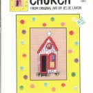 SUTHERN ACCENTS ~ CHURCH ~ GREEN APPLE CO CROSS STITCH CRAFT LEAFLET 2002 NOS DISC MINT