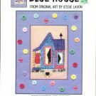 SUTHERN ACCENTS ~ BLUE HOUSE ~ GREEN APPLE CO CROSS STITCH CRAFT LEAFLET 2002 NOS DISC MINT