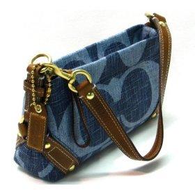 AUTHENTIC Coach Demin Signature Small CARLY Handbag #10793
