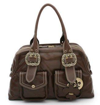 NWT Large Gianni Bini Coronado Satchel Leather Handbag