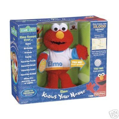 """Fisher-Price """"Elmo Knows Your Name"""" Doll"""