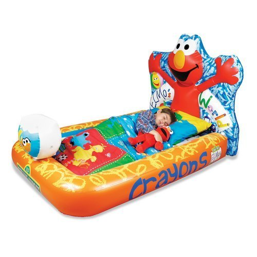 ELMO Elmo's World Inflatable Ready Bed Kids Toddler with pump included