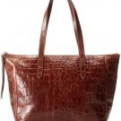 Fossil Sydney Brown Croc Embossed Shopper Purse Tote Bag New Leather Zb5915200