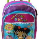 "EUC Ni Hao Kai Lan 12 Inch 12"" Toddler Kids Boys Girld Rolling Backpack Cute!!!"