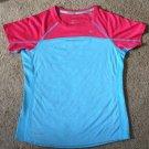 NEW Nike Girls Dri Fit RUNNING Miller Pink Blue T Shirt Tee M 411318 Tennis 7 8