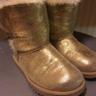 CIRCO GOLDEN GLITTER FAKE FUR LINED LITTLE GIRLS FASHION BOOTS SZ 11 GOLD 6-7 Yr