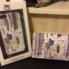 IZAK New York Mood Iphone 5 5s Purse Wristlet Bag Clutch + Hard Case Bundle Set