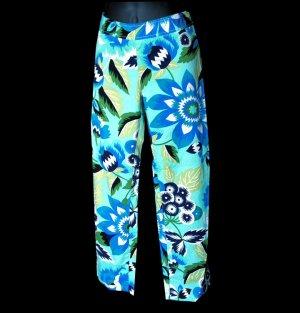 ZARA WOMAN bold BLUE capri PANTS US 4 EU 36 MEX 26 S small