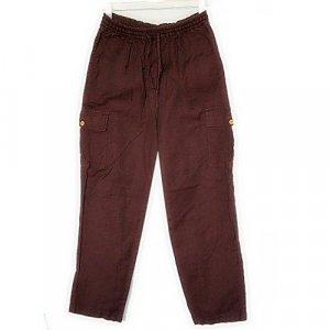NEWPORT NEWS purple cotton linen CARGO PANTS S small